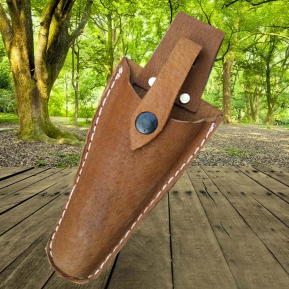 Professional Sale Pruning Outdoor Practical Electrician With Buckle Leather Sheath Tool Gardening Pouch Portable Storage Durable Scissor Bag High Safety Tool Parts