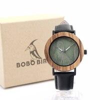 2017 Luxury BOBO BIRD Women Watches Zebra Wood Watch With Genuine Leather Strap Wrist Watch As