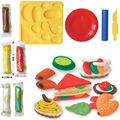 3D color plasticine playdough clay suit parent-child interactive toys sandwich set mold intelligent toy