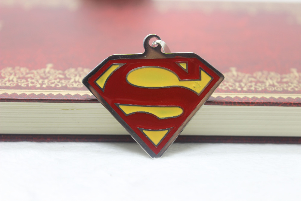 New arrival wholesale 10Pcs/lot 39*44mm stainless steel superman logo charm pendant for necklace jewelry making