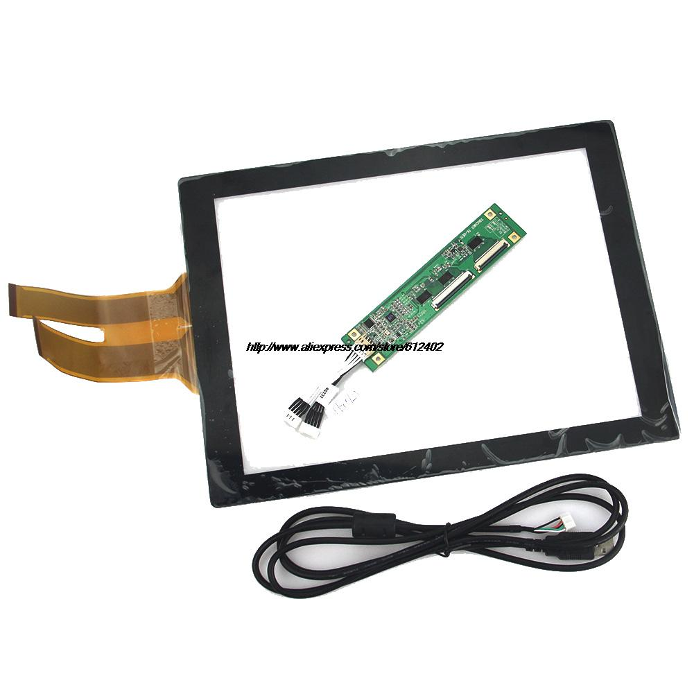 12.1 inch Projected Capacitive Touch Screen Panel 10 Points+USB Controller Win 7/8 USB for industrial Touch Screen Monitor new 376x308mm 17 inch infrared touch screen panel frame usb win 7 8 win10 drive kit 2 point 5 4