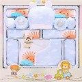 Jogo Do Presente Do Bebê Primavera Outono 100% Algodão Newbron Roupas de Menina Longo manga Moda Bebê Menino Roupa Do Bebê Do Menino Para 0-12 Meses Do Bebê