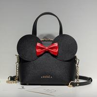 Limited Sale Fashion New Handbags High Quality PU Leather Women Bag Mickey Big Ear Shell Sweet