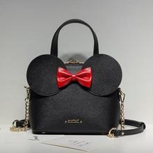 2020 Fashion New Handbags High quality PU Leather Women Tote bag Big Ear Shell bag Sweet Bow Chain Female Shoulder Messenger Bag