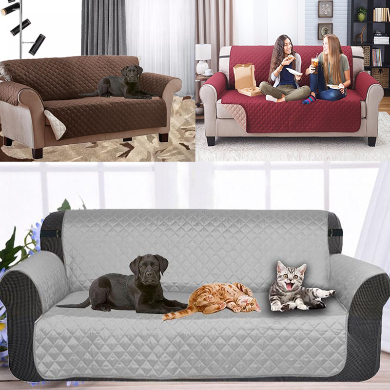 1/2/3 Seater Resistant Pet sofa cover Anti-skid Dirt-proof Protector Suede Pet Dog Cushion Mat Polyester Sofa Slip Covers