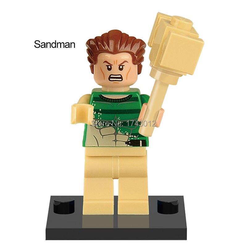 30Pcs Super Heroes Sandman Doctor Octopus White Tiger Mysterio Bricks Assemble Building Blocks Best Children Gift Toys XH 327