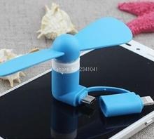 Portable 2 in 1 Mini USB Fans for Samsung / HTC/ Huawei/ LG/ Sony Android Phone Cooling Fan for iPhone 6S 6 / 6S Plus 5SE 5S 5