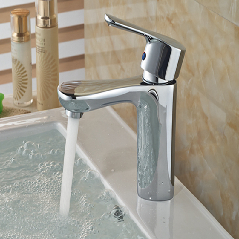 Wholesale And Retail Bathroom Chrome Brass Basin Faucet Single Handle Hole Vanity Sink Mixer Tap Hot And Cold Mixer newest washbasin design single hole one handle bathroom basin faucet mixer tap hot and cold water orb chrome brusehd
