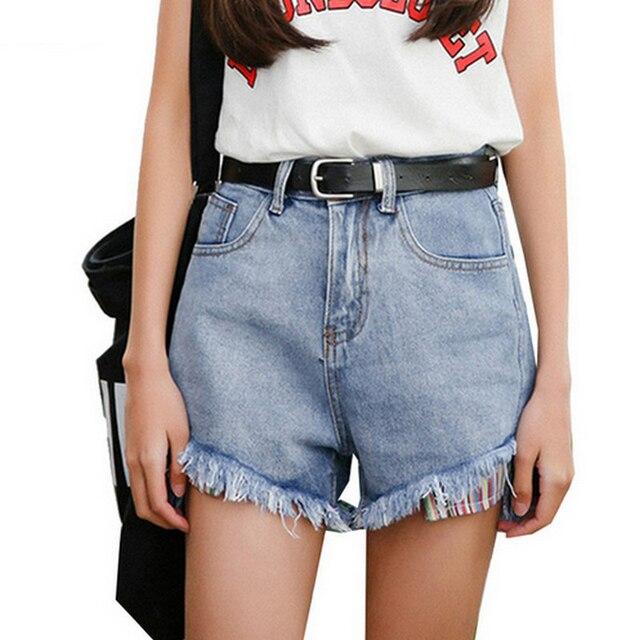 Mode Couleur Lavé Chaude Pantalon En Slim Vintage De Jean Short 8qd8z5