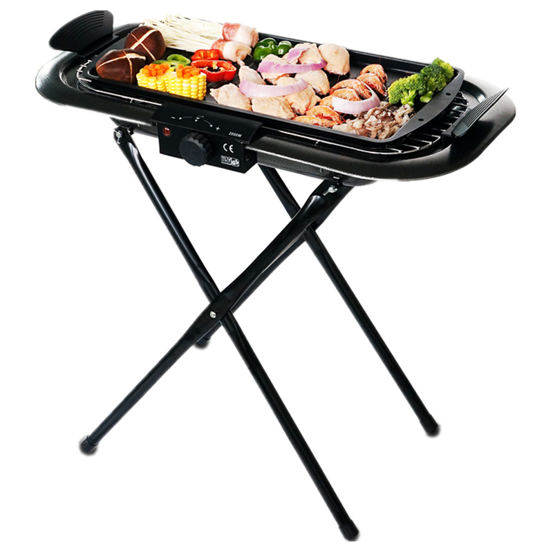 BBQ Household Multifunction Indoor Electric Barbecue Grill Outdoor Charcoal Grill Portable Smokeless Cooker hewolf portable size outdoor camping beach bbq barbecue grill rack household use lightweight folding picnic rack stand well sell