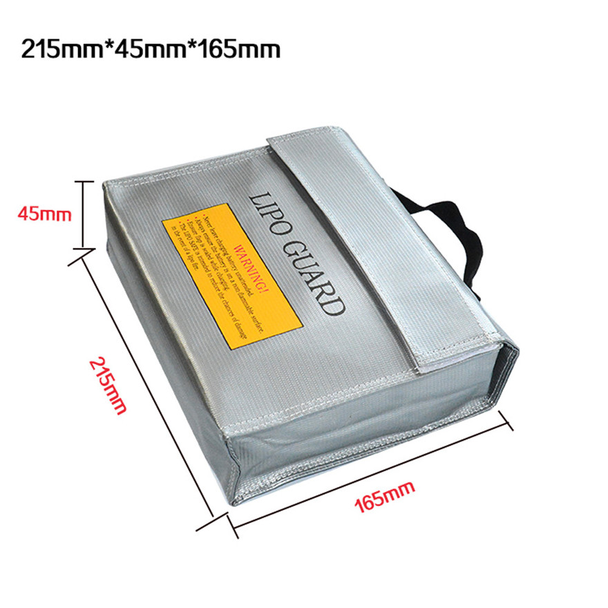цена на High Quality LiPo Li-Po Battery Fireproof Safety Guard Safe Bag 215*45*165MM Toys Wholesale Free Shipping