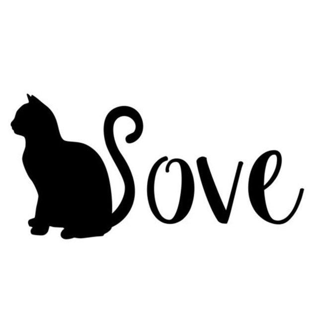 Download 15.5CM*7.5CM Cat Decal Love Cats Sticker Cat Car Decal ...