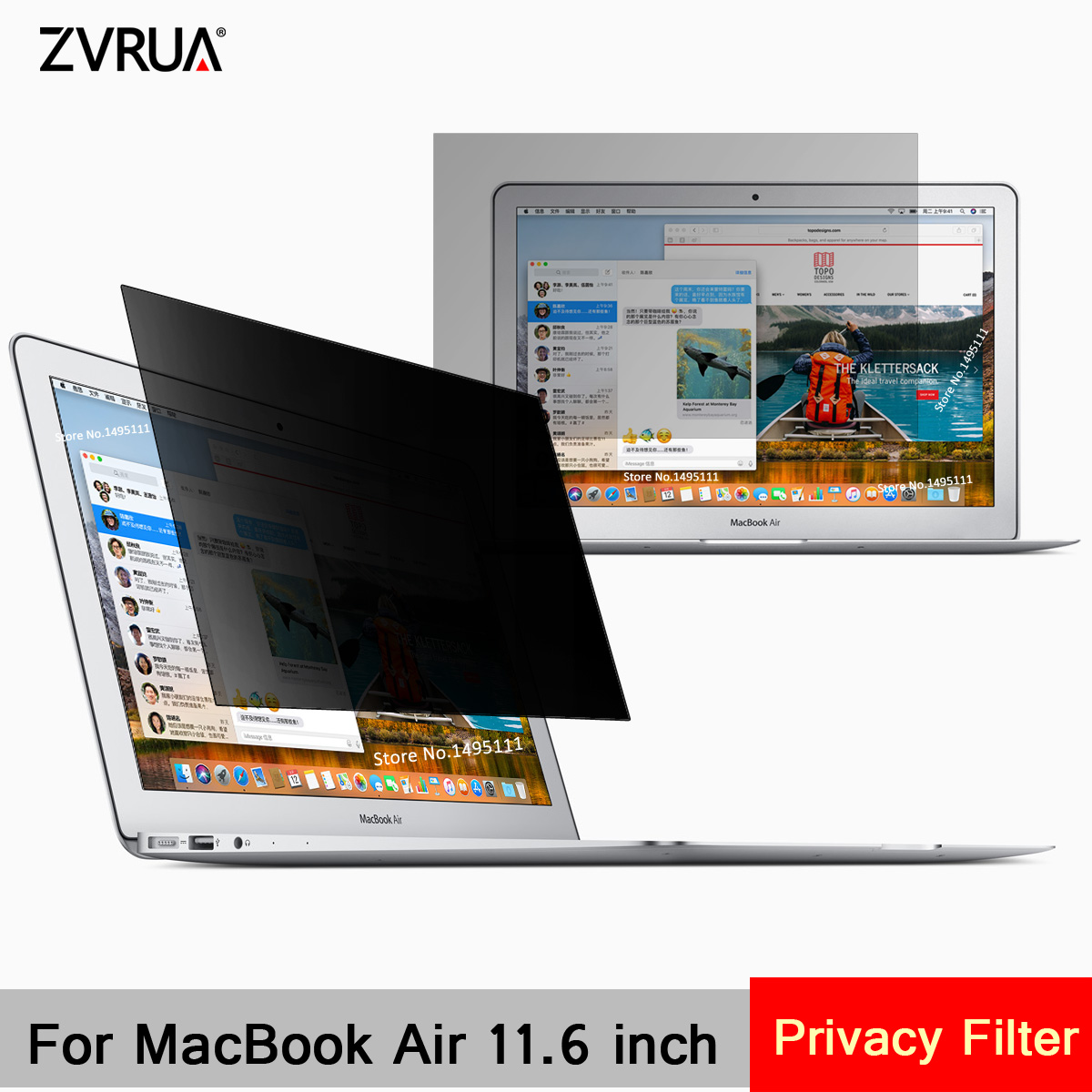 For Apple MacBook Air 11 (256mm*144mm) Privacy Filter Laptop Notebook Anti-glare Screen protector Protective film image