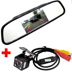 Image 1 - 車ccdビデオオートパーキングモニター、ledナイト逆転ccd車のリアビューカメラと 4.3 インチ車のバックミラーモニター