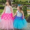 Girls Pink Mermaid Tutu Dress Children Kids Spiderweb Fairy Butterfly Summer Dress Halloween Photo Party Costume TS094