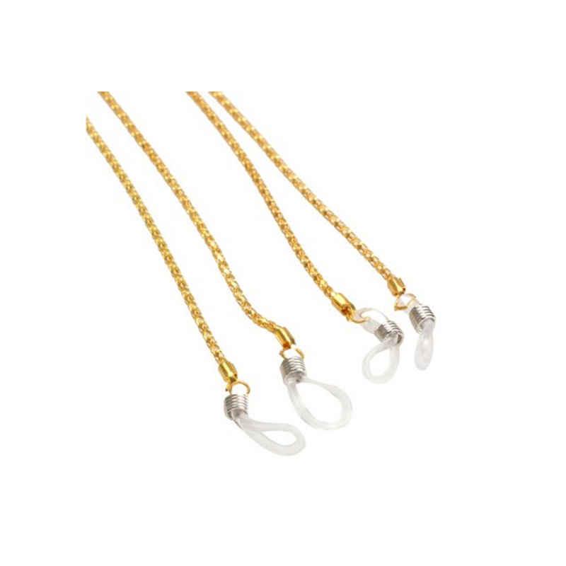 61cm 1pcsSunglasses cordón Correa collar Metal gafas cadena cable para gafas de lectura 4 colores