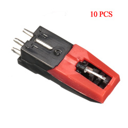 Agulha magnética acessório do estilete do cartucho da plataforma giratória de 10 pces para o jogador do vinil de lp