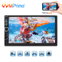 AMPrime Car Radio 2din 7 Touch Autoradio Mirrorlink Multimedia Player Bluetooth MP4 MP5 Stereo Audio Auto With RearView Camera