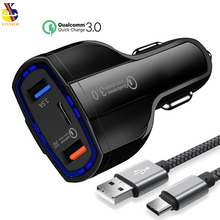 Car usb Charger Quick Charge 3 0 Mobile Phone Charger 2 Port USB Fast Car Charger for iphone7 Samsung huawei htc Tablet Charger cheap APPLE Sony Motorola Xiaomi Blackberry Lenovo MEIZU Universal Qualcomm Quick Charge 3 0 Qualcomm Quick Charge 2 0 5V 2A Lightning