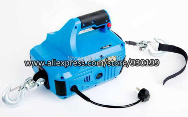 Wireless Remote Control Wire Rope Pulling Hoist 550lbs 8m Small ...