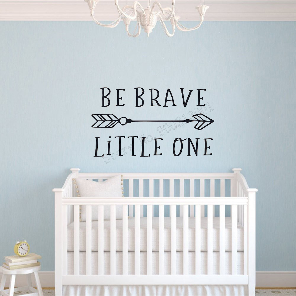 JOYRESIDE Wall Sticker Art Home Decoration Be Brave Little One Quote Poster kids Room Mural Removeable Decor LY10