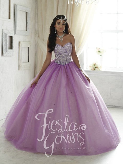 359f4c5c5 Light Purple Lilac Quinceanera Dresses 2017 New For 15 Year Tulle Organza  Beaded Cheap Vestido de 15 Anos Sweet 16 Dress XQ19