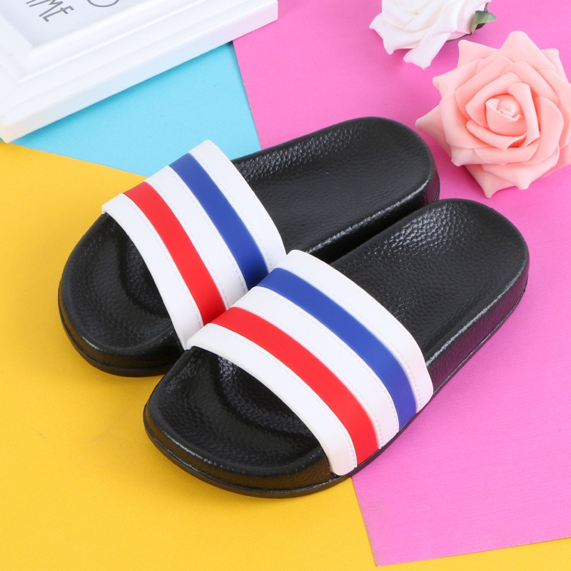 Mother & Kids Boys Girls Summer Casual Sandals Soft Sole Fashion Color Striped Kids Slippers Barefoot Water Shoes For Children Bath Beach Shoe Children's Shoes