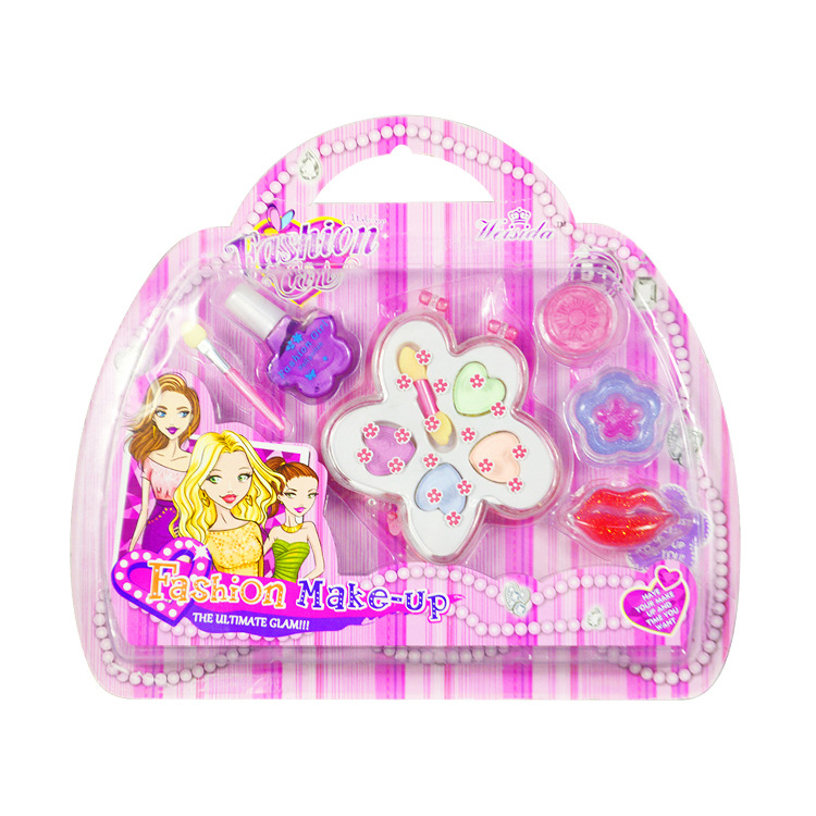 Children Make Up Little Handbag Set Toys Kids Girl Cosmetics Party Performances Dressing Box Makeup Pretend