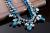 Roxi marca collar colgante para las mujeres joyería azul de la manera rhinestone brillante collar de la cuerda de lujo para regalo de navidad año nuevo
