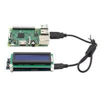 1602 RGB ЖК-экран с usb-портом для Raspberry Pi 3B 2B B + Windows Linux