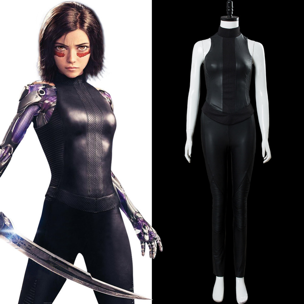 2019 Alita: Battle Angel Cosplay Costume Alita Outfit Cosplay Costume Jumpsuit Halloween Carnival Costume Custom Made