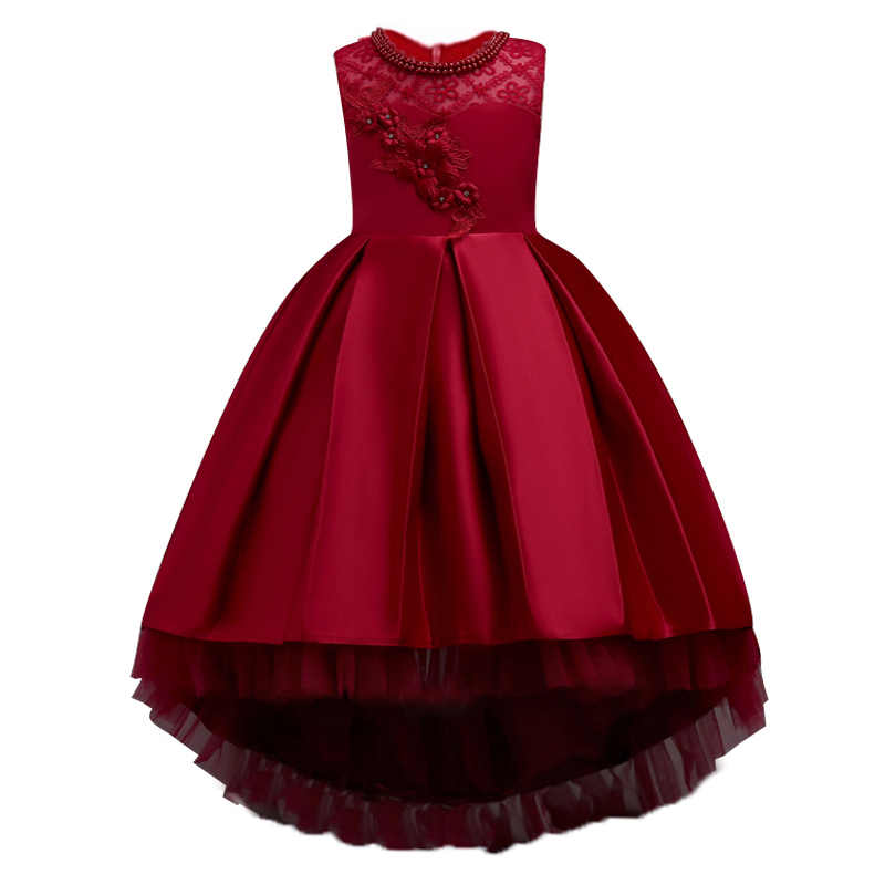 Летние Детские платья для девочек; свадебное платье; элегантное торжественное платье принцессы для девочек; детское вечернее платье; vestidos; для детей 10-12 лет