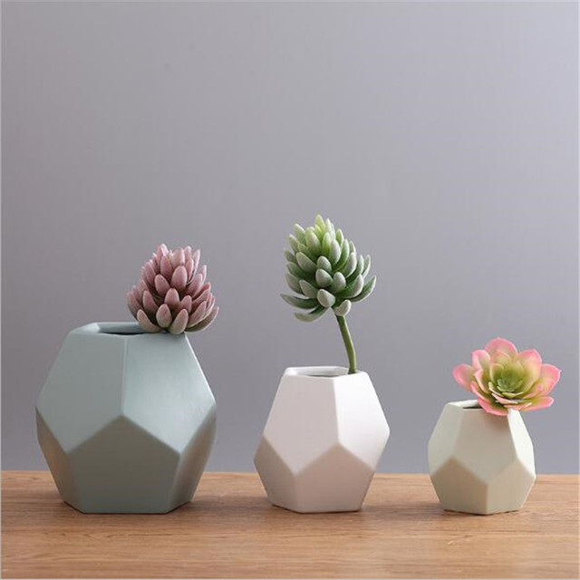 Modern Minimalist Ceramic Flower Vase Scandinavian Creative Living Room  Flower Geometric Home Decorations Part 81