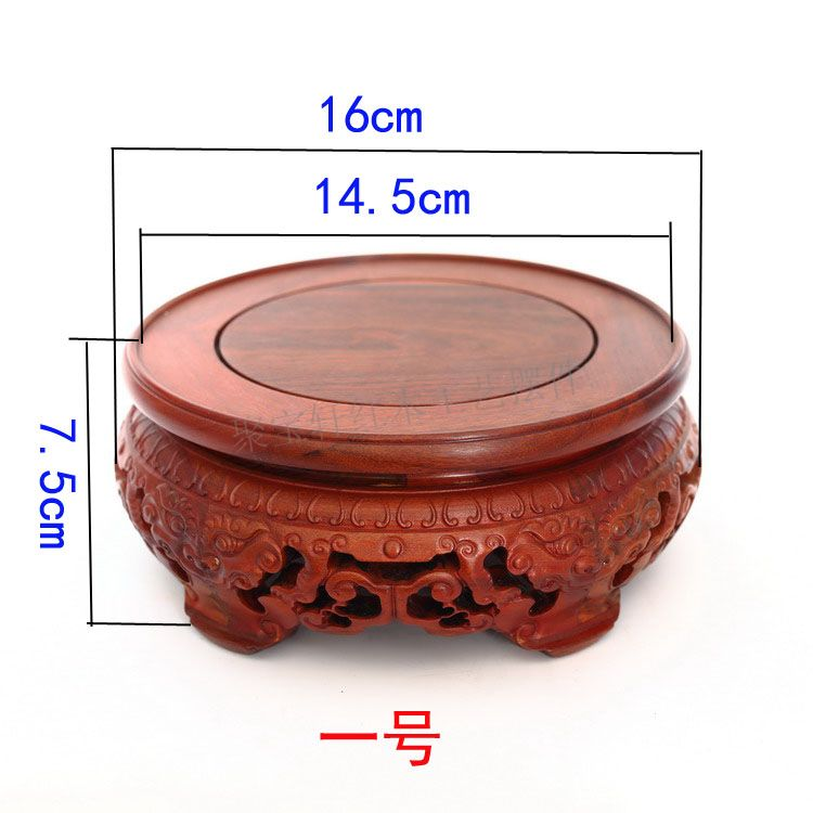 Household act the role ofing is tasted rosewood carving furnishing articles aquarium Buddha circular base solid wood crafts in Coffee Tables from Furniture