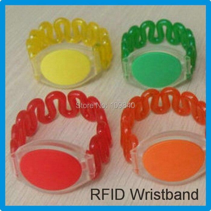 125Khz RFID ABS Wristband with TK4100(Compitable EM4100,EM4200),Proximity Water-proof RFID Bracelet,100pcs/lot