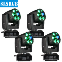 4XLot Moving christmas lights 30W White led Spot Gobo + 48W RGBW Beam Wash DJ Disco DMX Strobe Projector Party Equipment
