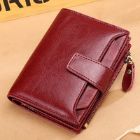 SENDEFN new leather ladies wallet female short student Korean version of the multi function coin purse driving license wallet