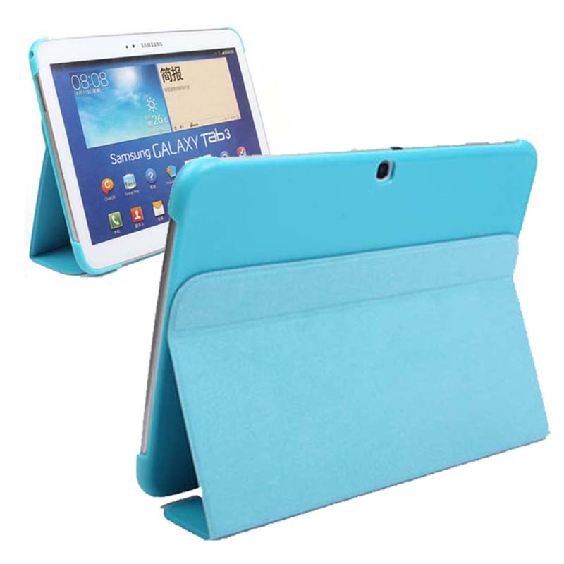 high quality fashion Slim PU Leather Case Cover For Samsung Galaxy Tab 3 10.1 P5200 P5210 stand smart case capa funda pu leather case cover for samsung galaxy tab 3 10 1 p5200 p5210 p5220 tablet