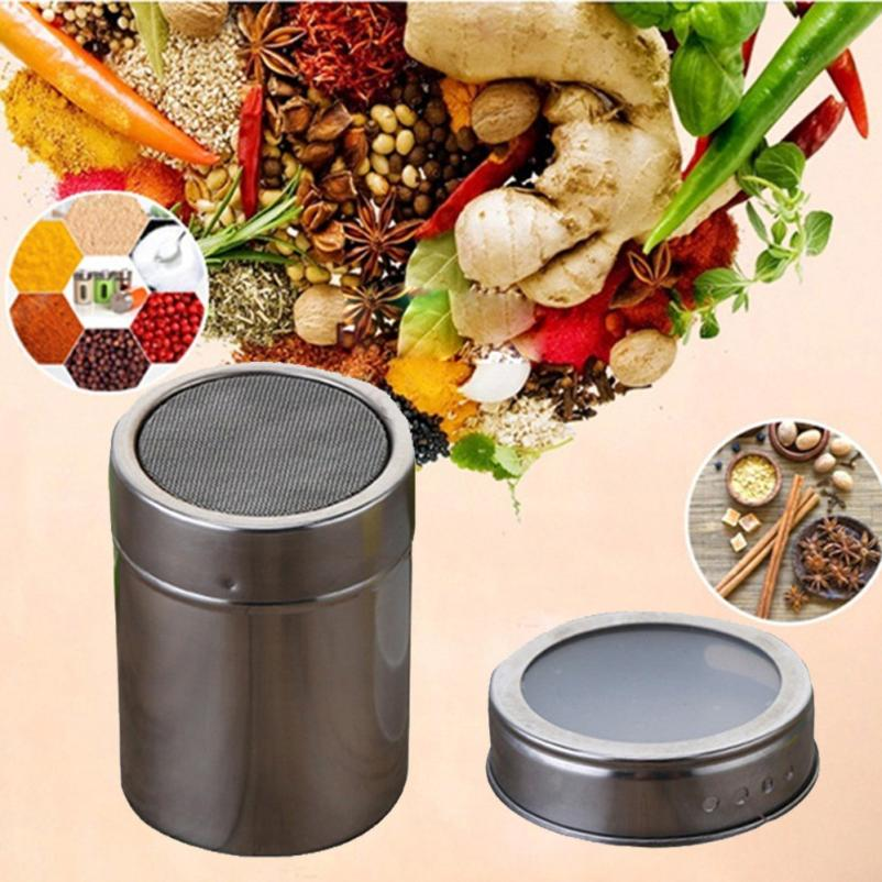 Kitchen Condiment Bottles Salt Cellars Servers Stainless Steel Magnetic  Spice Storage Jar Tins Container With Rack