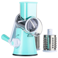 Slicer Rotary Drum Grater Shredder Grinder with 3 Interchanging Kitchen Vegetable Cheese Cutter Stainless Steel Drums Graters