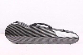 Black violin case 4/4 carbon fiber Composite materials High streng
