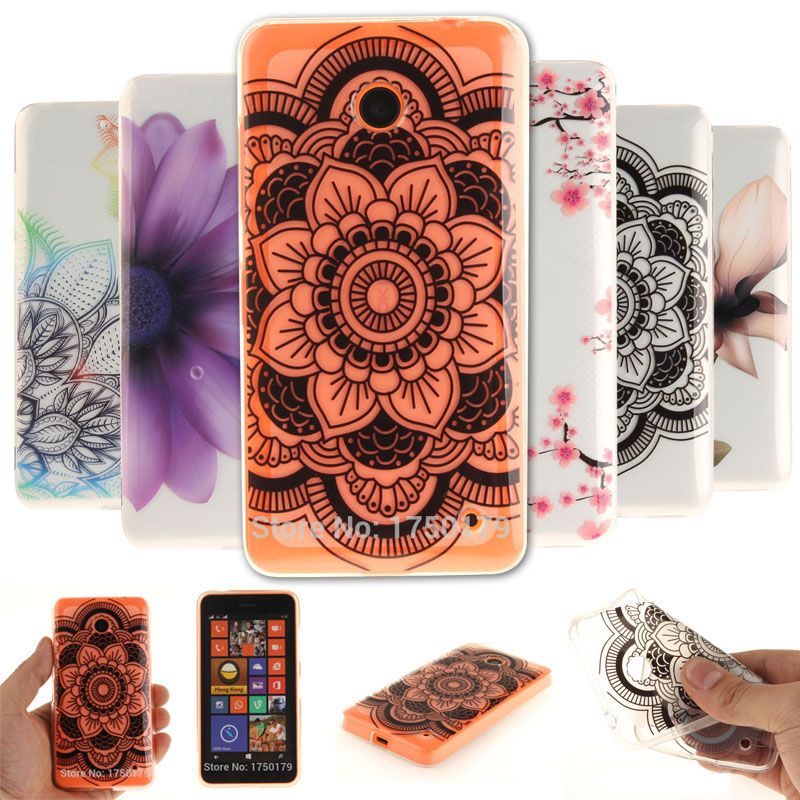 Galleria fotografica Coloured Pattern Silicone Back <font><b>Cover</b></font> Clear TPU Soft Case For <font><b>Nokia</b></font> lumia 630 Cell Phone Cases Coque For <font><b>Nokia</b></font> 635