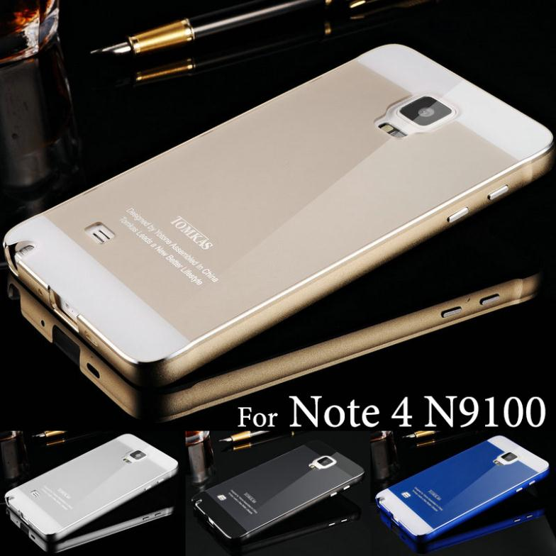newest 2d274 052d7 Tomkas Aluminum Case For Samsung Galaxy Note 4 N9100 Luxury Caso ...