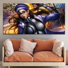 Ana Captain Amari Overwatch Painting On Canvas Print Type And The Wall Decorative Artwork 1 Panel Style Game Large Poster