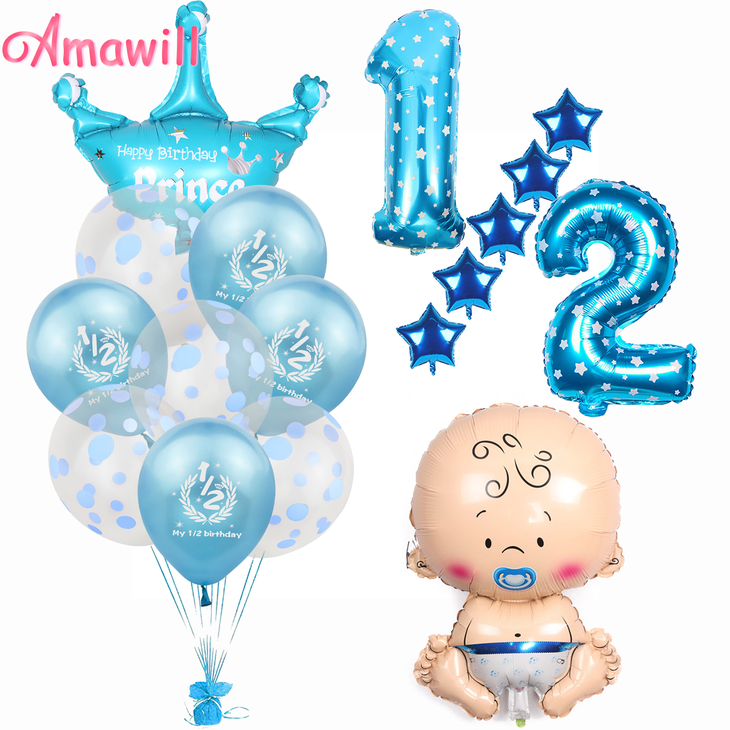 I Am One Banner 1 Year Birthday Decorations 1st Boy Girl Second Party Supplies