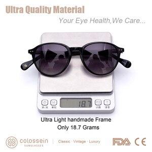 Image 4 - COLOSSEIN Sunglasses Women Vintage Cat Eye Coating Sun Glasses Polarized Black Brown Frame Men UV400 handcrafted Gafas De Sol