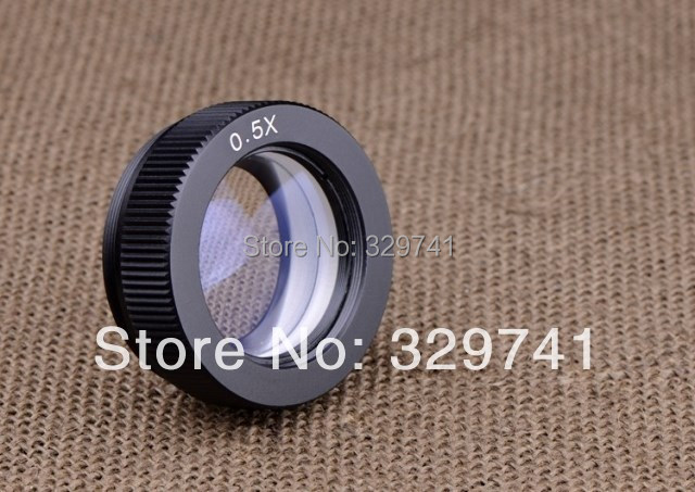 0.5x Auxiliary Objective Lens for Stereo Microscope Parts Accessories Fitting Accessory Free Shipping 20x monocular stereo microscope with 20x up right image small size 2x objective and wf10x eyepiece