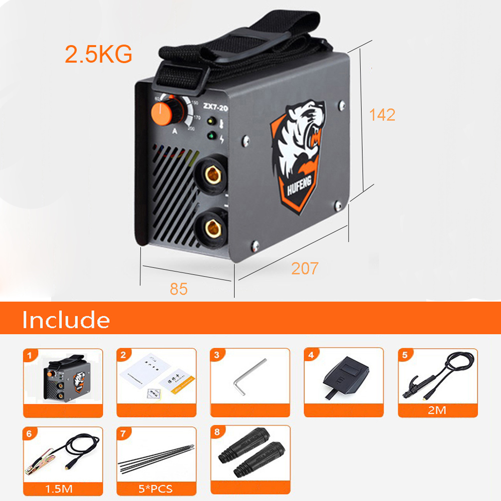 Cutting welder IGBT AC Inverter Portable MMA ARC Household Electric Welding Machine 10A-200A Welding Tongs& Welding electrodes igbt inverter welding machine co2 gas shielded welding machine n 200 220v 200a
