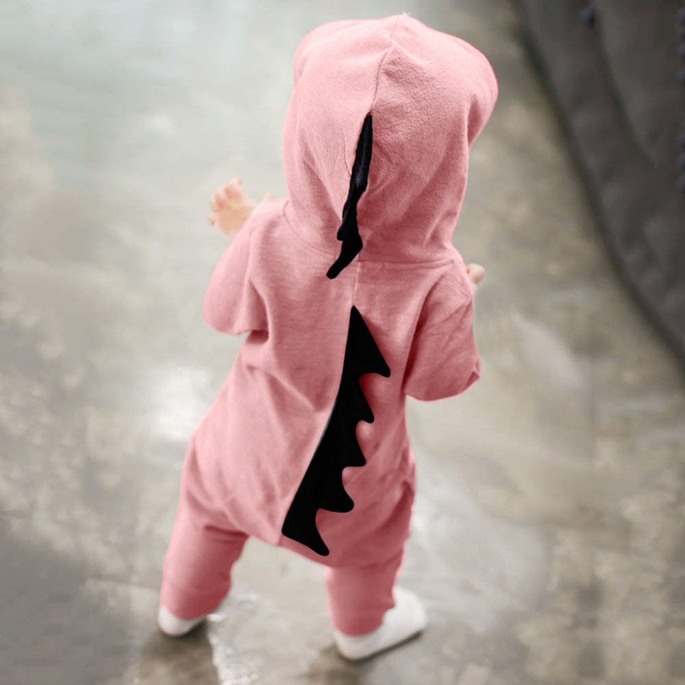 ebe6ad643 cute onesie baby Newborn Infant Baby Boy Girl halloween costume Dinosaur  Hooded Romper Jumpsuit Outfits Clothes 2018 ropa ninas