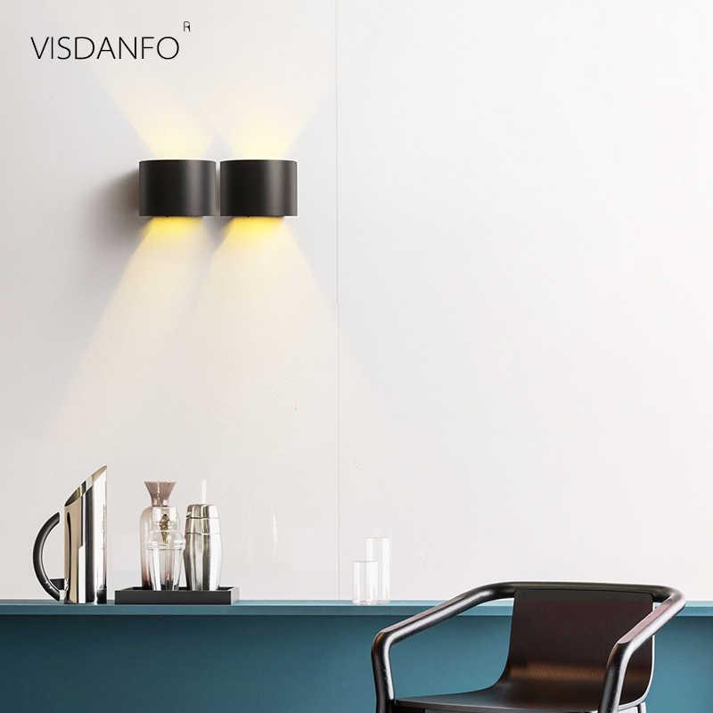 Visdanfo скандинавские прикроватные спальни настенные лампы светильники настенные бра креативный проходу Внутреннее освещение для ванной коридора